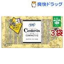 センターイン コンパクト1/2 無香料 多い昼用 羽つき 生理用ナプキン スリム(22枚*3袋セット)