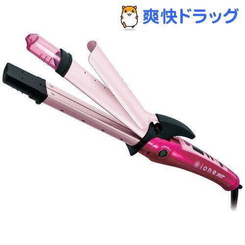 イオネ マイナスイオン 2WAY スチームヘアーアイロン 32mm ピンク IPW1632-P(1台)【イオネ(ione)】【送料無料】