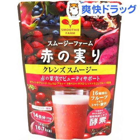 クレンズスムージー 赤の実り(70g)【新日配薬品】