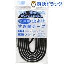 網戸用 虫よけすき間テープ ブラック 6mm(パイル長)*6mm(テープ巾)*2.2m(1巻入)【ダイオ化成】