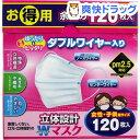 トプラン 立体設計 ダブルワイヤーマスク 女性・子供用(120枚入)【トプラン】