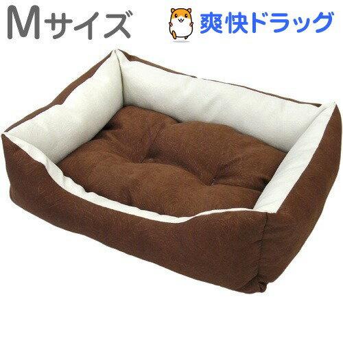 PuChiko スクエアベッド ココアブラウン Mサイズ(1コ入)【SIE-11】【PuChiko】[ベッド エアーベッド 犬 猫 ペットベッド 夏 洗える]:爽快ドラッグ