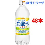 伊賀の天然水炭酸水 レモン(500mL*48本セット)【サンガリア 天然水炭酸水】