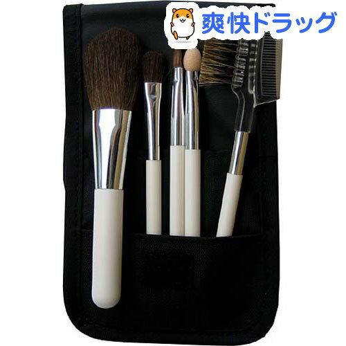 熊野筆メーカー企画の5本組メイクブラシセット SB-98(5本入)[メイクブラシ ブラシ …...:soukai:10164312
