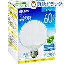 エルパ ボール電球形蛍光ランプ 60W形 相当 EFG15ED/12-G061H(1コ入)【エルパ(ELPA)】