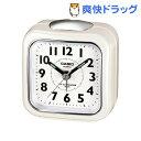 カシオ 置時計 パールホワイト TQ-157-7BJF(1コ...