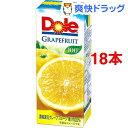 ドール グレープフルーツジュース100%(200mL 18本入)