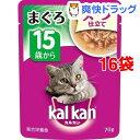 カルカン パウチ スープ仕立て 15歳から まぐろ(70g*16コセット)【カルカン(kal kan)】
