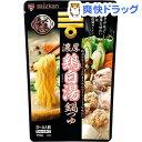 ミツカン 〆まで美味しい 濃厚鶏白湯鍋つゆ ストレート(750g)