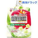 【訳あり】大粒アロエinクラッシュタイプの蒟蒻畑 りんご味(150g)【蒟蒻畑】