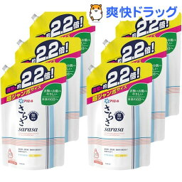 <strong>さらさ</strong> <strong>洗剤</strong> <strong>つめかえ用</strong> <strong>超ジャンボサイズ</strong>(1.64kg*6コセット)【cga05】【stkt03】【<strong>さらさ</strong>】