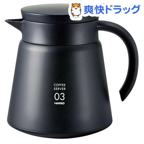 ハリオ V60保温ステンレスサーバー800 ブラック(1コ入)【ハリオ(HARIO)】