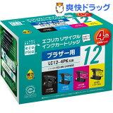 エコリカ ブラザー 4色パック LC12-4PK(1セット)【】
