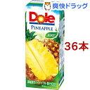 ドール パイナップルジュース100%(200mL 36本入)