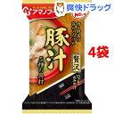 アマノフーズ いつものおみそ汁贅沢 豚汁(4袋セット)【アマノフーズ】