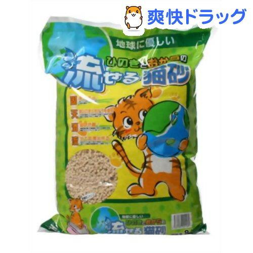 猫砂 ひのきとおからの流せる猫砂(8L)[猫砂  ヒノキ ペット用品 猫 トイレ 砂]:爽快ドラッグ