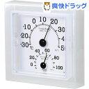 クレセル クリア・ミニ 温度計・湿度計 壁掛け・卓上両用 CR-12W ホワイト(1コ入)【クレセル】