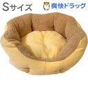 【アウトレット】PuChiko ドーナツベッド オレンジ/ベージュ Sサイズ(1コ入)【PuChiko】[犬 猫 ペットベッド Sサイズ あったか 洗える]