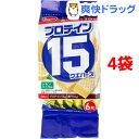 ヘルシークラブ プロテイン15ウエハース レモンバニラ味(6枚入 4袋セット)【ヘルシークラブ】