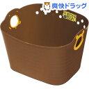 くまのプーさん やわらかバケツ 四角 ブラウン SQ43(1コ入)