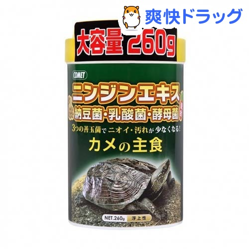 コメット カメの主食(260g)【コメット(ペット用品)】[シュリンプ 爬虫類 両生類]:爽快ドラッグ
