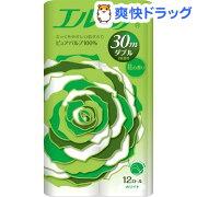 エルモア トイレットロール 花の香り ダブル 2枚重ね30m(12ロール)【エルモア】