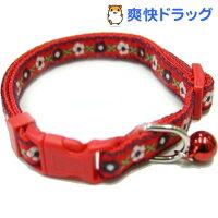 フラワーカラー 赤(1コ入)[猫 首輪]