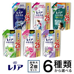 <strong>レノア</strong>本格消臭 つめかえ用 特大サイズ 2袋セット 柔軟剤 1030ml or 980ml【pgdrink1803】