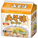 麵類 - マルちゃん みそ味ラーメン 北海道限定 5食パック[東洋水産 マルちゃん]
