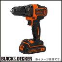BDCDD186K 18Vリチウム コードレスドリルドライバー ブラック&デッカー