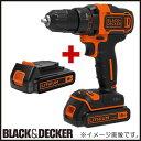 BDCDD186K2 18Vリチウム コードレスドリルドライバー ブラック&デッカー