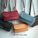 バッグ お財布代わりにも使える、便利なミニポシェット。多収納マルチミニショルダーバッグレディース/鞄/斜め掛け/お財布ポシェット/合皮/フェイクレザー