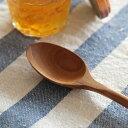 【送料無料】スプーン 優しい口当たりの、ころんとしたかたちで。チークウッドデザートスプーン日用雑貨/キッチン用品/テーブルウェア/カトラリー/木製食器/天然木/...