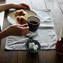 ランチョンマット テーブルを爽やかに彩る、ストライプのマット。ファインストライプランチョンマット(2枚セット)日用雑貨/キッチン用品/ランチマット/カフェマット/布/綿麻/コットンリネン/ナチュラル