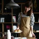 エプロン Mサイズ ほんのりワークテイストなポケットが便利なエプロン。チノ風ショート丈エプロンレディース/キッチン用品/カフェエプロン/ガーデニング/コットン/綿