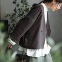 スソダスジャケット 裾のはみ出しを楽しむ 四角いジャケット M/L/LL/3L/4Lサイズ レディース/トップス/ライトアウター/コート/羽織り/..