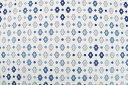 ラミネートテーブルカットクロス約130cm幅 メルヴェイユ ブルー《SOULEIADO ソレイアード》