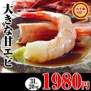 【ハロウィン ギフト】大きな甘エビ3Lサイズの甘えびが20尾も入っています。【福袋】海鮮、魚介の美味しい食べ物【10P06Aug16】