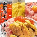 【お中元 ギフト】【送料無料 あす楽】海鮮丼セット 生ウニ1...