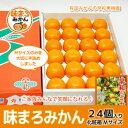 【予約受付開始・出荷12月上旬】早和果樹園 味まろみかん Mサイズ 24個入り化粧箱 【送料無