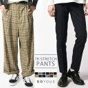 メンズ パンツ メンズファッション TR ストレッチ テーパ...