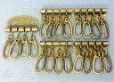 ●キーケース 金具 B 4連 幅34mm アンティークゴールド(真鍮古美) 5個入り 厚タイプ