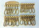 ●キーケース 金具 B 6連 幅48mm アンティークゴールド(真鍮古美) 4個入り 厚タイプ