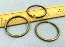 ●◎金具 二重リング キーホルダー 直径35mm 線幅2.2mm 10個入り 真鍮古美 鉄製 一番大