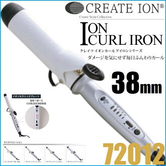 "Creates ion ion curl iron 38 mm 72012 «curling irons» ""4988338220153"""