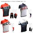 mcnブランド サイクルジャージ(ショートスリーブ)&イタリア製パッド付き4分丈ビブパンツ 上下セット自転車サイクルウェア・サイクリングウェア・半袖・タイツ・ショーツ(10P01Oct16)