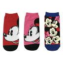 Disney ディズニー ミッキーマウス&ミニーマウス 01 キャラックス ソックス3Pセット