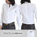 ドルチェアンドガッバーナ メンズドゥエボットーニドレスシャツ ワイシャツ ホワイト