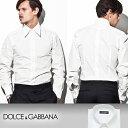DOLCE&GABBANA/ドルチェアンドガッバーナ メンズドゥエボットーニドレスシャツ/ワイシャツ(Yシャツ) (アイボリー/B0193)≫YGSR26_27...