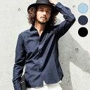 AKM Contemporary(エイケイエムコンテンポラリー) 袖カモフラ切り替えシャツ(サックス/ネイビー/ブラック/グレー)【RCP】【あす楽】【C】メンズ/メンズファッション/人気/ブランド/お洒落/大人/カジュアル/通販
